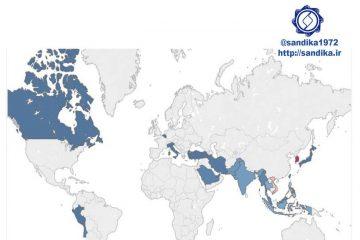 نمودار ۱۱۹ 💢نقشه جهانی بازارهای صادراتی فولاد چین