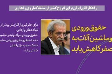 عکس نوشت / راهکار اتاق ایران برای خروج کشور از مشکلات ارزی و تجاری